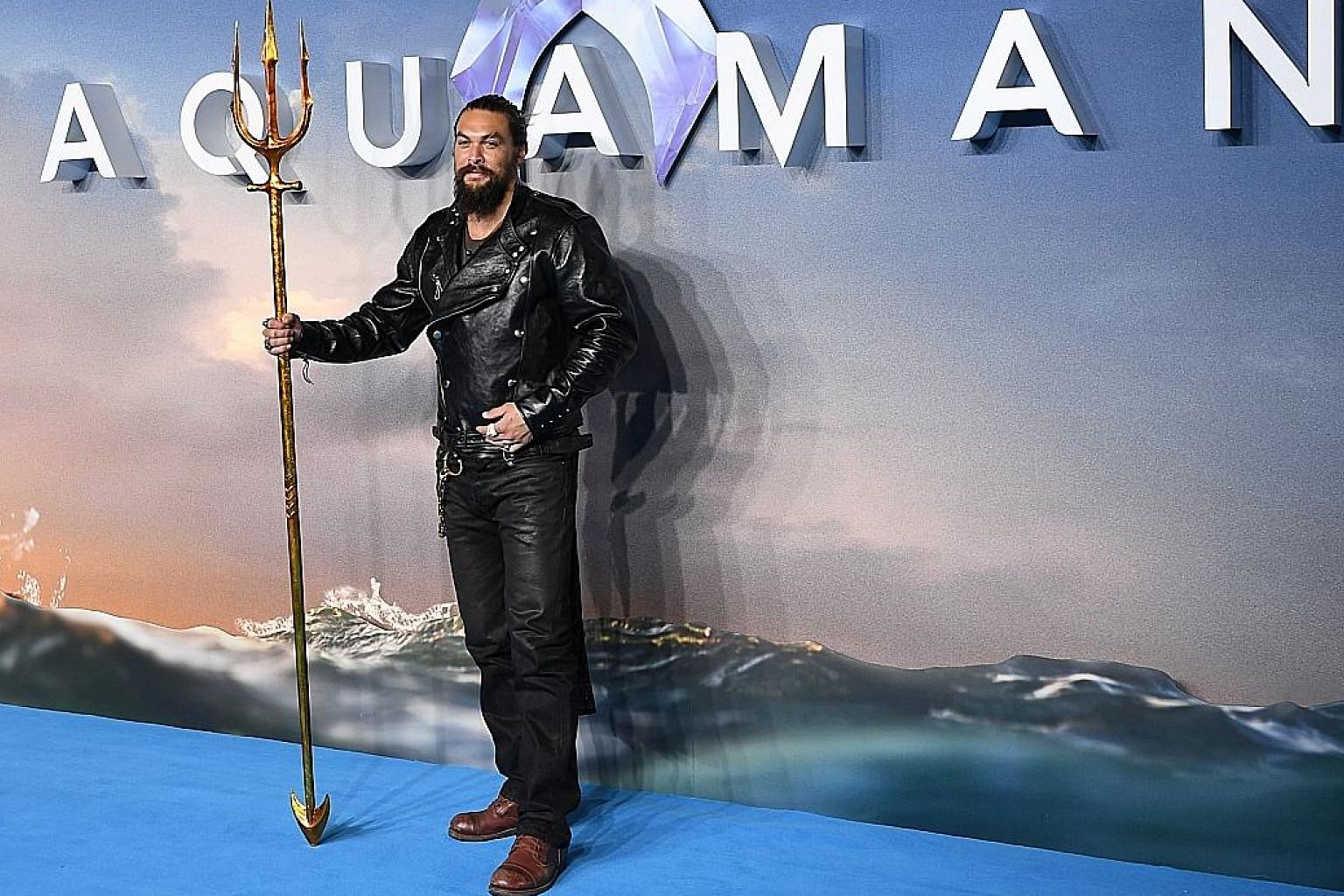 Actor Jason Momoa, who stars in Aquaman, attended the film's world premiere in London last month.