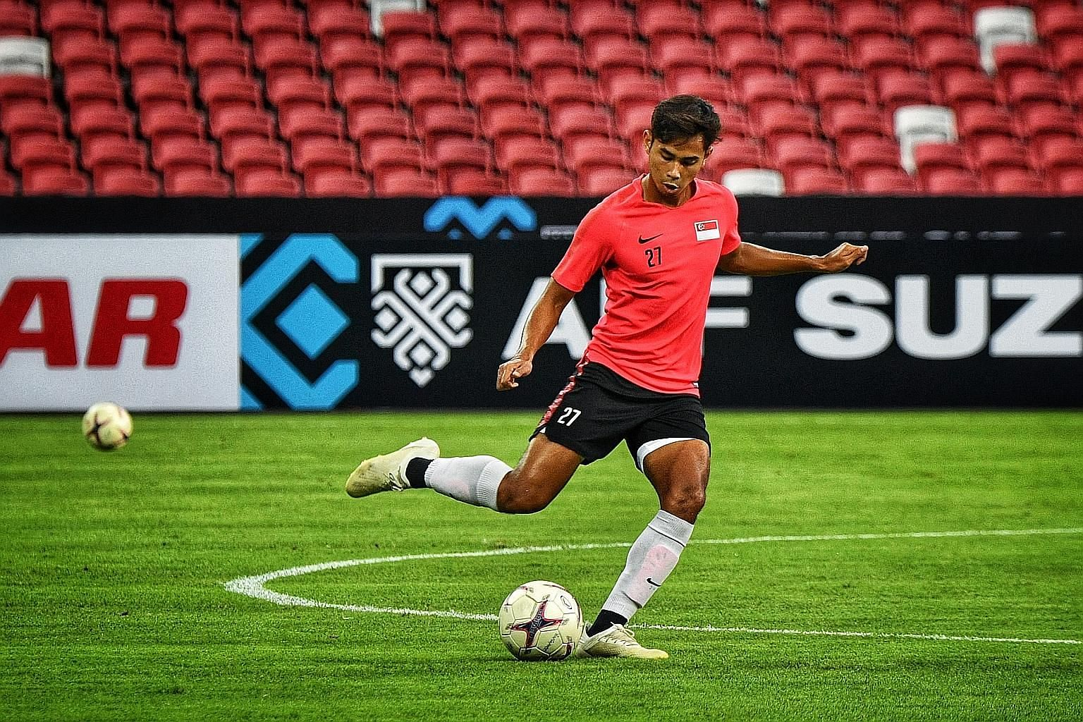 Forward Adam Swandi, 22, has improved in his one year at Albirex Niigata and was named the SPL Young Player of the Year.