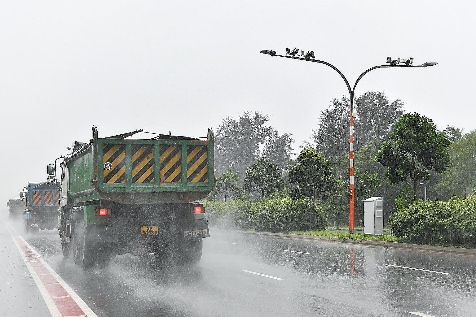 The police will begin using the Average Speed Camera system for enforcement action along a stretch of Tanah Merah Coast Road from next Monday. The system comprises cameras at the entrance and exit of the enforcement zone. It will detect and compute t