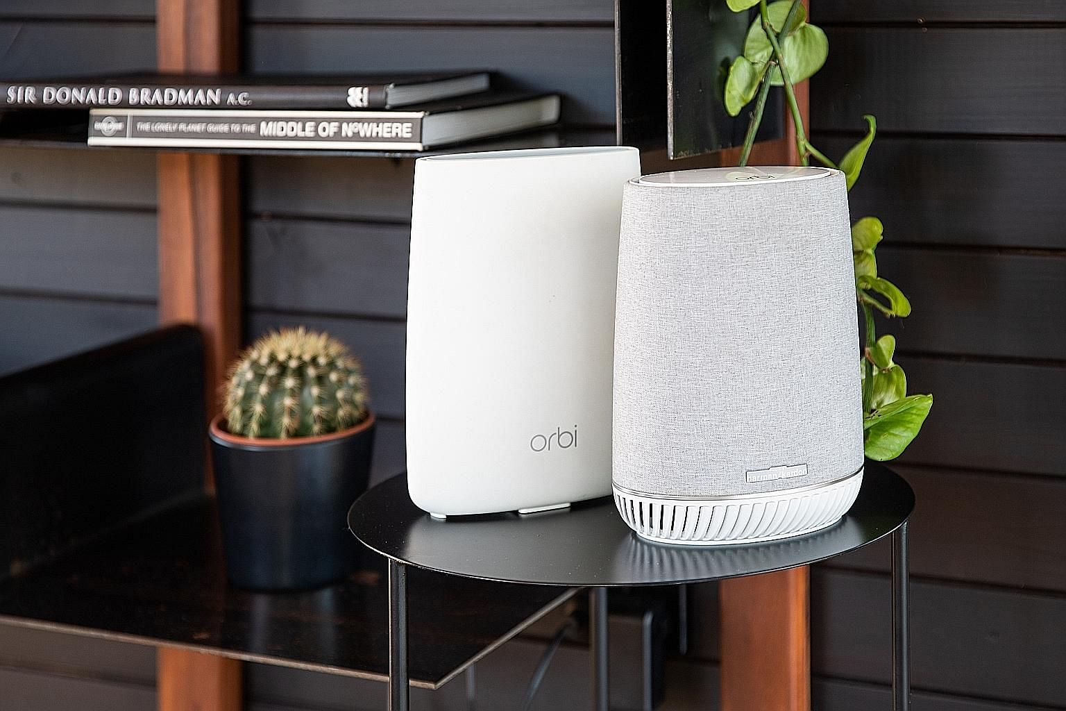 The Orbi Voice kit includes an Orbi router and an Orbi Voice speaker.