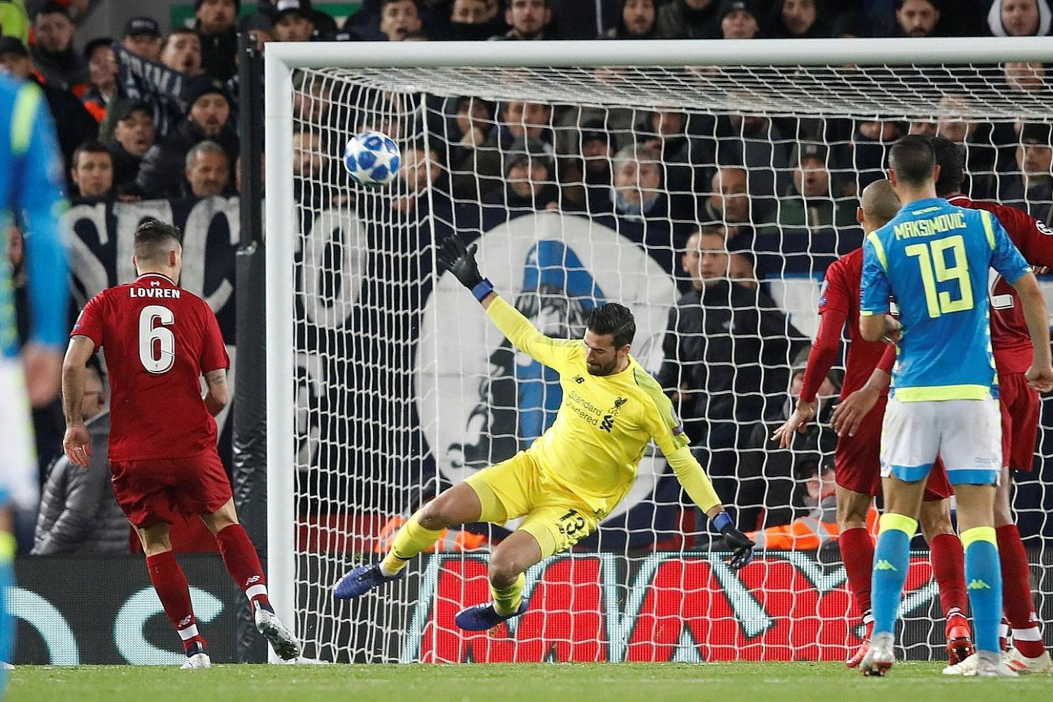 Liverpool goalkeeper Alisson Becker has kept 10 clean sheets in 16 Premier League games this season, and this crucial stoppage-time save against Napoli on Tuesday gave the Reds the 1-0 win to advance to the knockout stages of the Champions League.