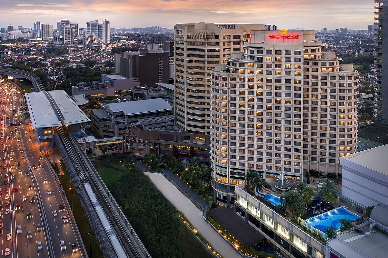 The five-star One World Hotel in Petaling Jaya, Malaysia, has been named the World's Leading Meeting and Conference Hotel at the 25th World Travel Awards. The event was held earlier this month in Lisbon, Portugal. The hotel's general manager, Mr Chri
