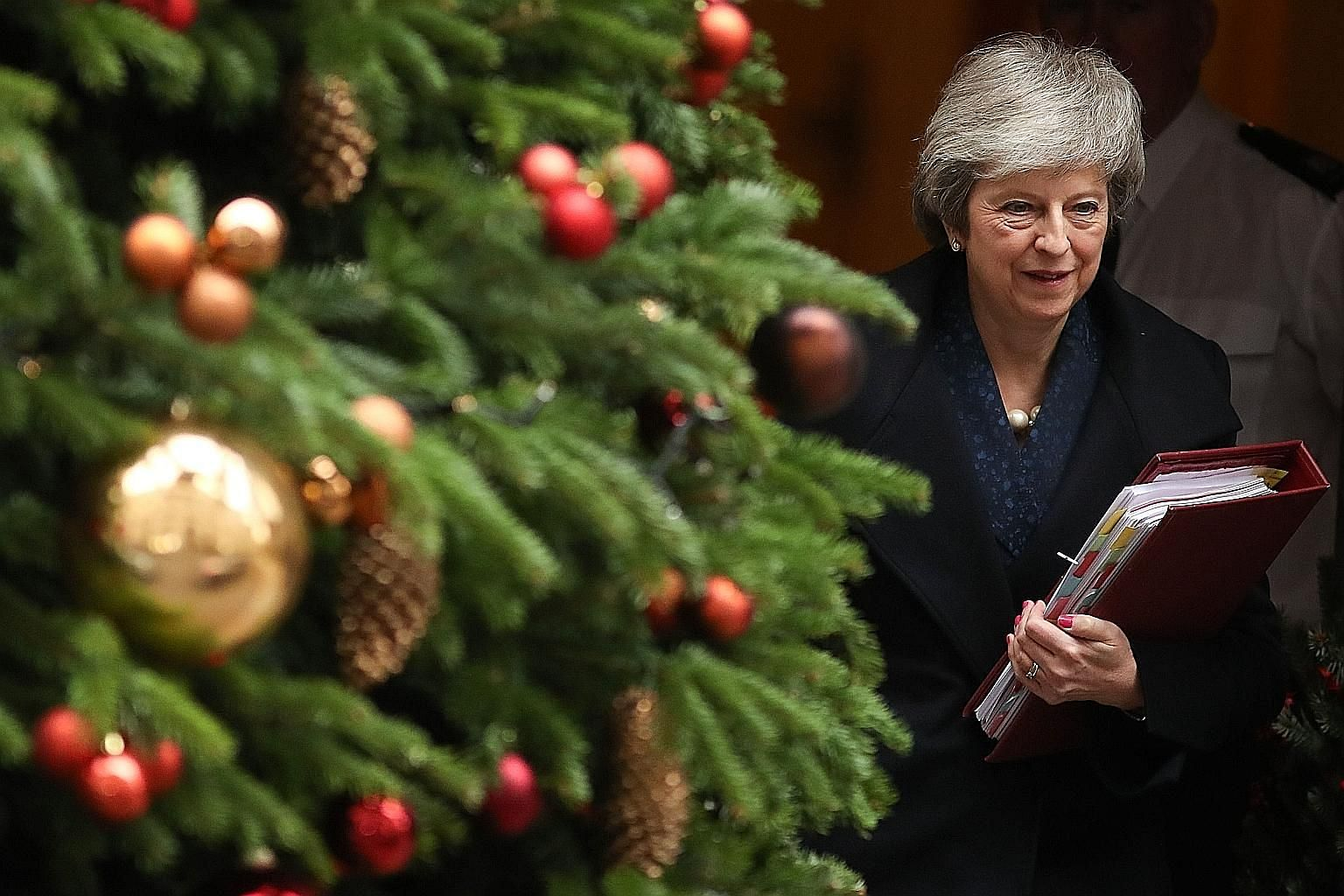 British Prime Minister Theresa May leaving 10 Downing Street on Wednesday. According to the writer, what doomed the Brexiters' arguments against Mrs May's leadership was the growing realisation in recent months that they had no plan of their own.