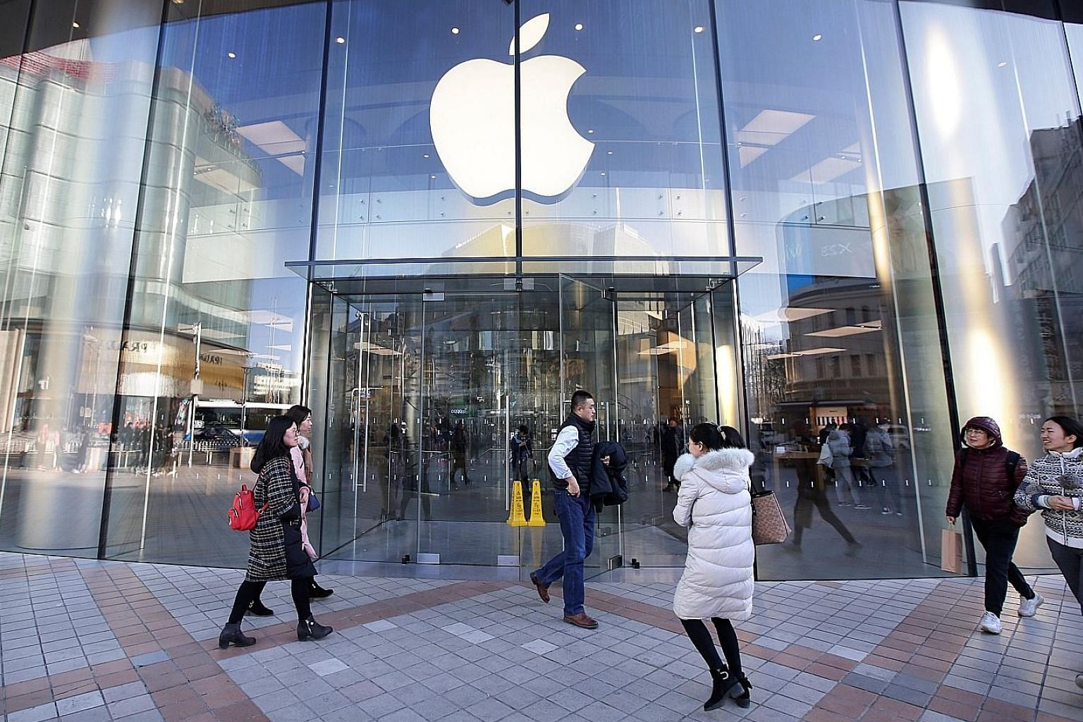 An Apple store in Beijing. While iPhones remain on store shelves pending a decision on Apple's appeal, a negative outcome could affect its sales in the Chinese market that generates about a fifth of its revenue, at a time demand for the firm's signat