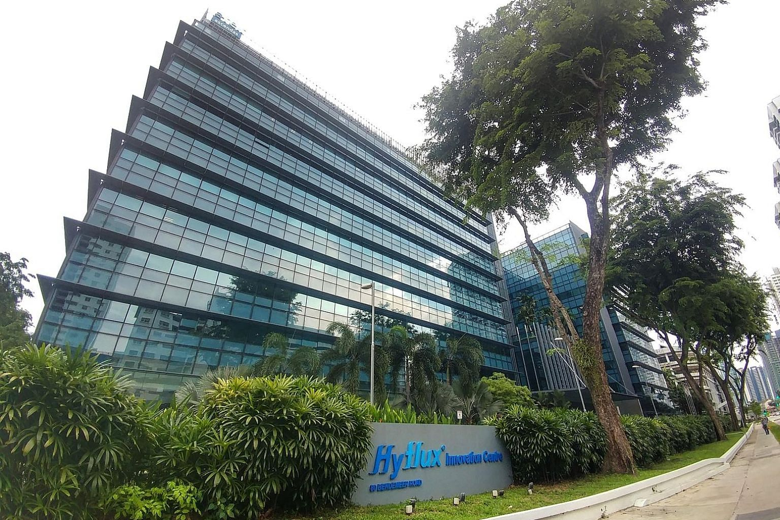 The Hyflux Innovation Centre in Bendemeer Road. Hyflux said it was unable to maintain banking support to receive payment from Iranian firm Asia Water Development Engineering Company for work under the contract due to the US reinstating sanctions on I