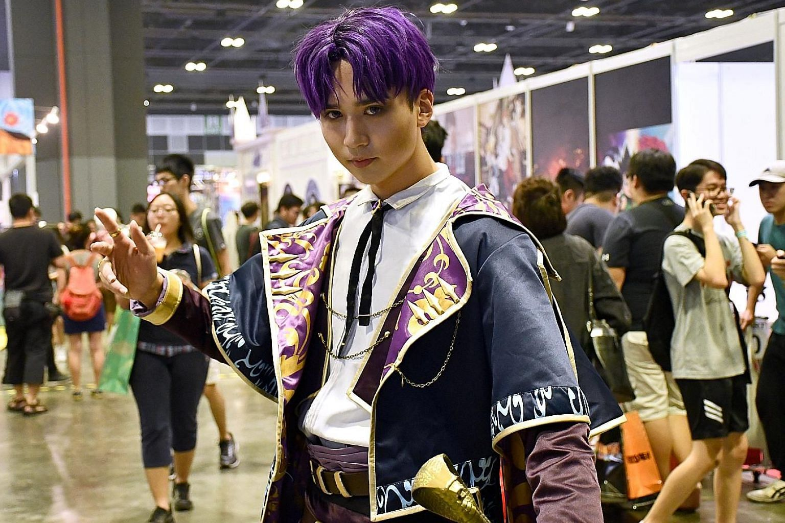 Cosplayer Eiji Wong, who works as a photography assistant at a studio in Kuala Lumpur, at the Anime Festival Asia, which took place from Nov 30 to Dec 2 at the Suntec Singapore Convention and Exhibition Centre.