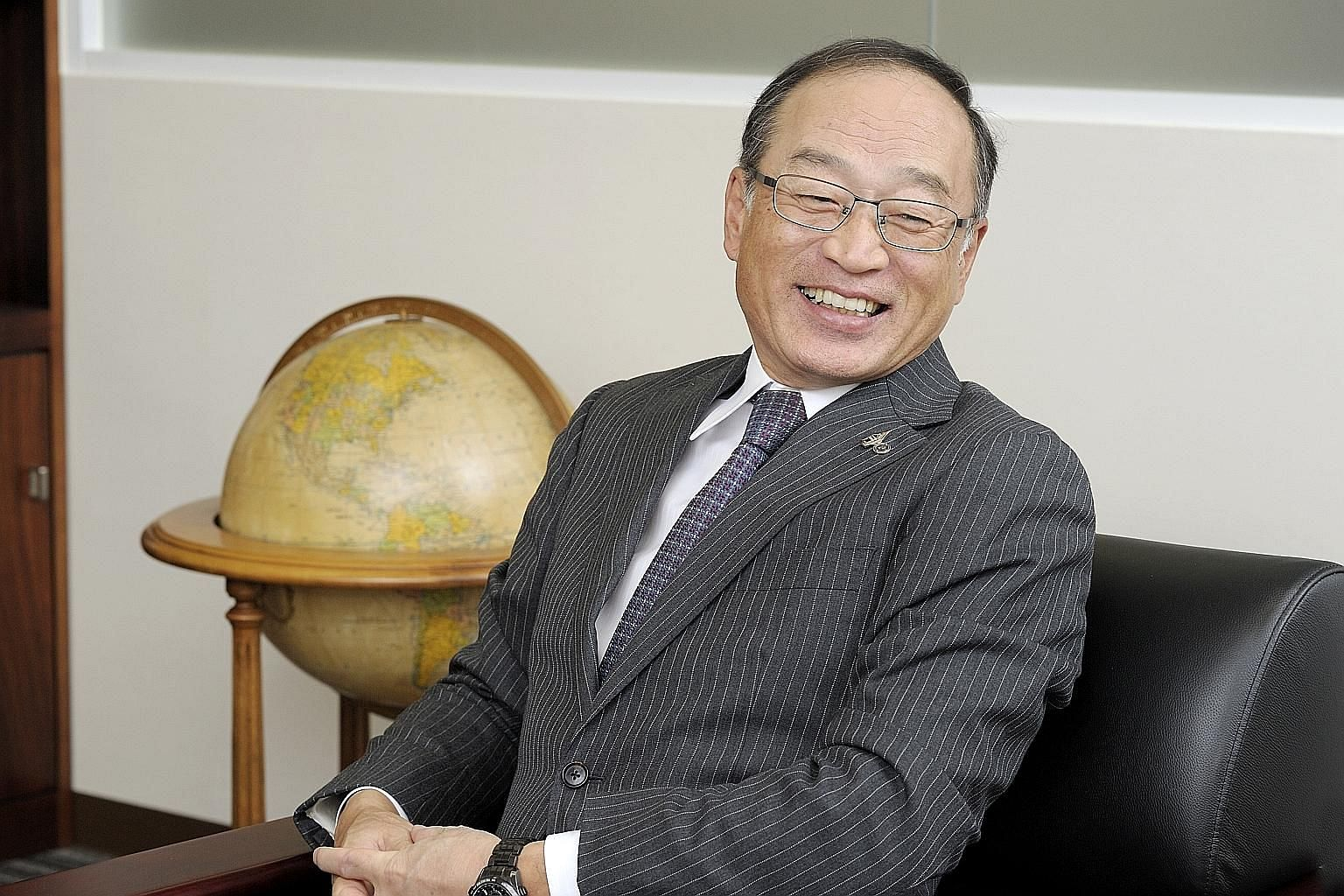 Mr Shu Itoh, president of Japan's Pilot Corp, has been with the company for 39 years and was given charge of it last year. He says what sets it apart from competitors is its attention to quality, with the focus on the ball and tip of the pen.