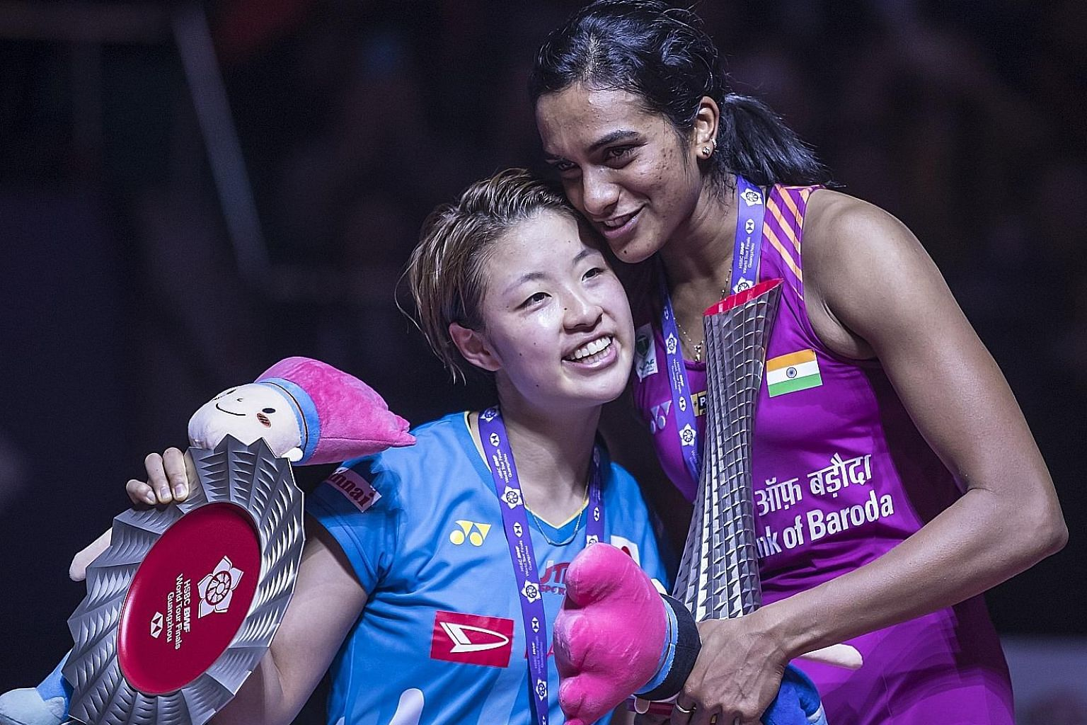 The year ends on a beautiful note for perennial runner-up P.V. Sindhu of India, who beat Japan's Nozomi Okuhara 21-19, 21-17 in the women's singles final at the BWF World Tour Finals in Guangzhou yesterday.