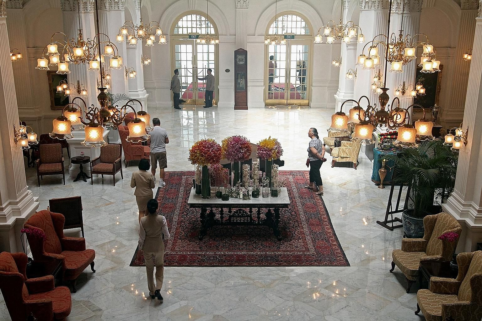 Raffles Hotel, which was featured in the Hollywood hit movie Crazy Rich Asians, is due to reopen next year after a refurbishment. Average occupancy rates in Singapore hotels touched 87 per cent this year, the highest in a decade, property firm Cushma