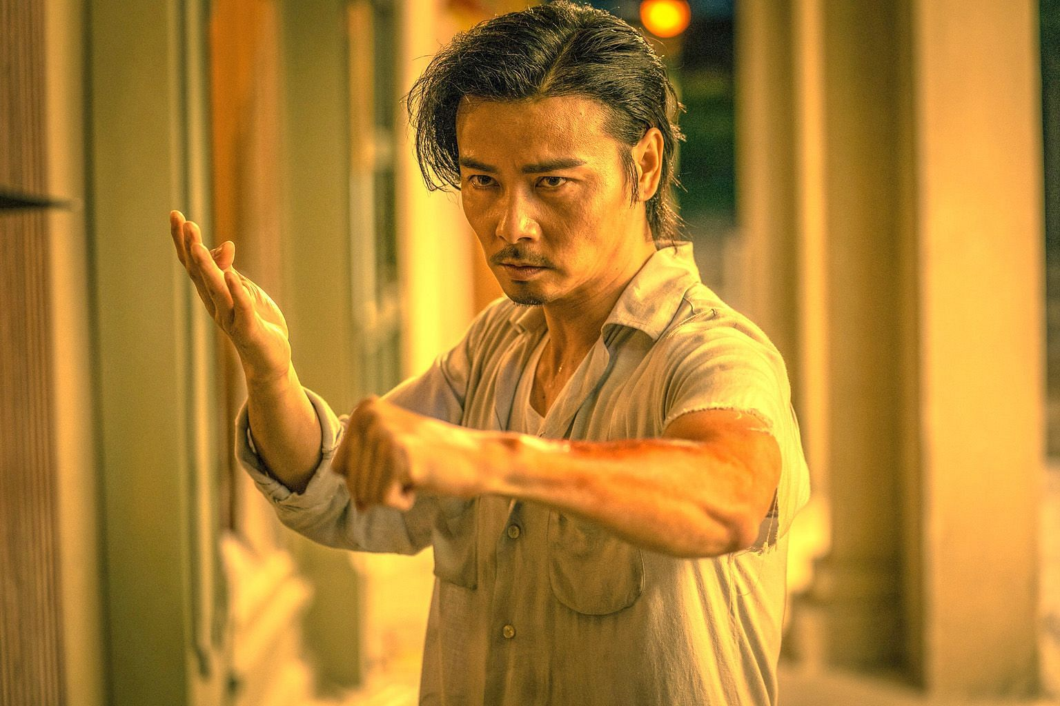 Chinese actor Max Zhang plays a wing chun master who closes his martial arts academy to lead a simpler life in Master Z: The Ip Man Legacy.