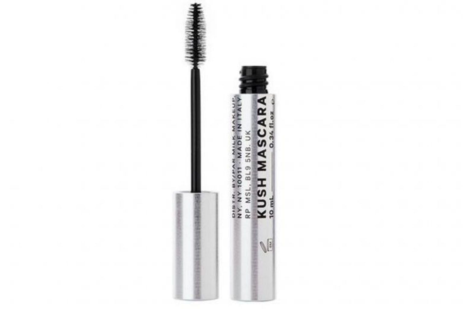 Cannabis sativa seed oil is listed as one of the ingredients in Kush High Volume Mascara, which is created by Milk Makeup, a cosmetics company based in New York City.