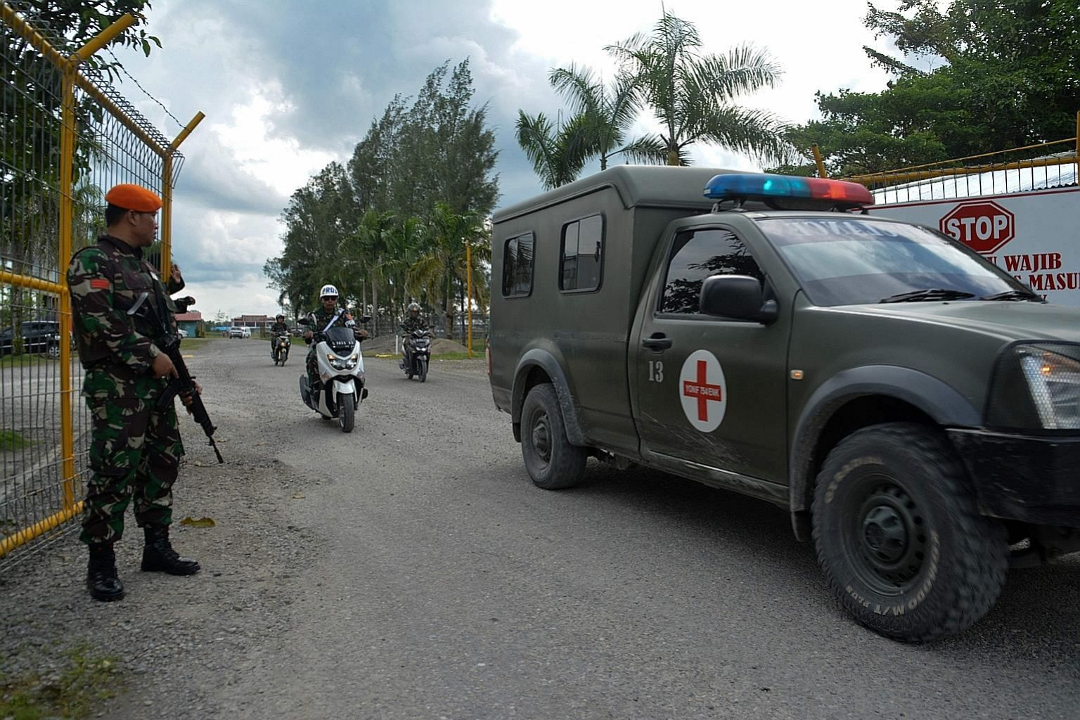An Indonesian military ambulance evacuating the body of a soldier killed by rebels in Papua province earlier this month. Indonesia annexed the mineral-rich region in 1969 with a United Nations-backed vote that was widely seen as a sham.