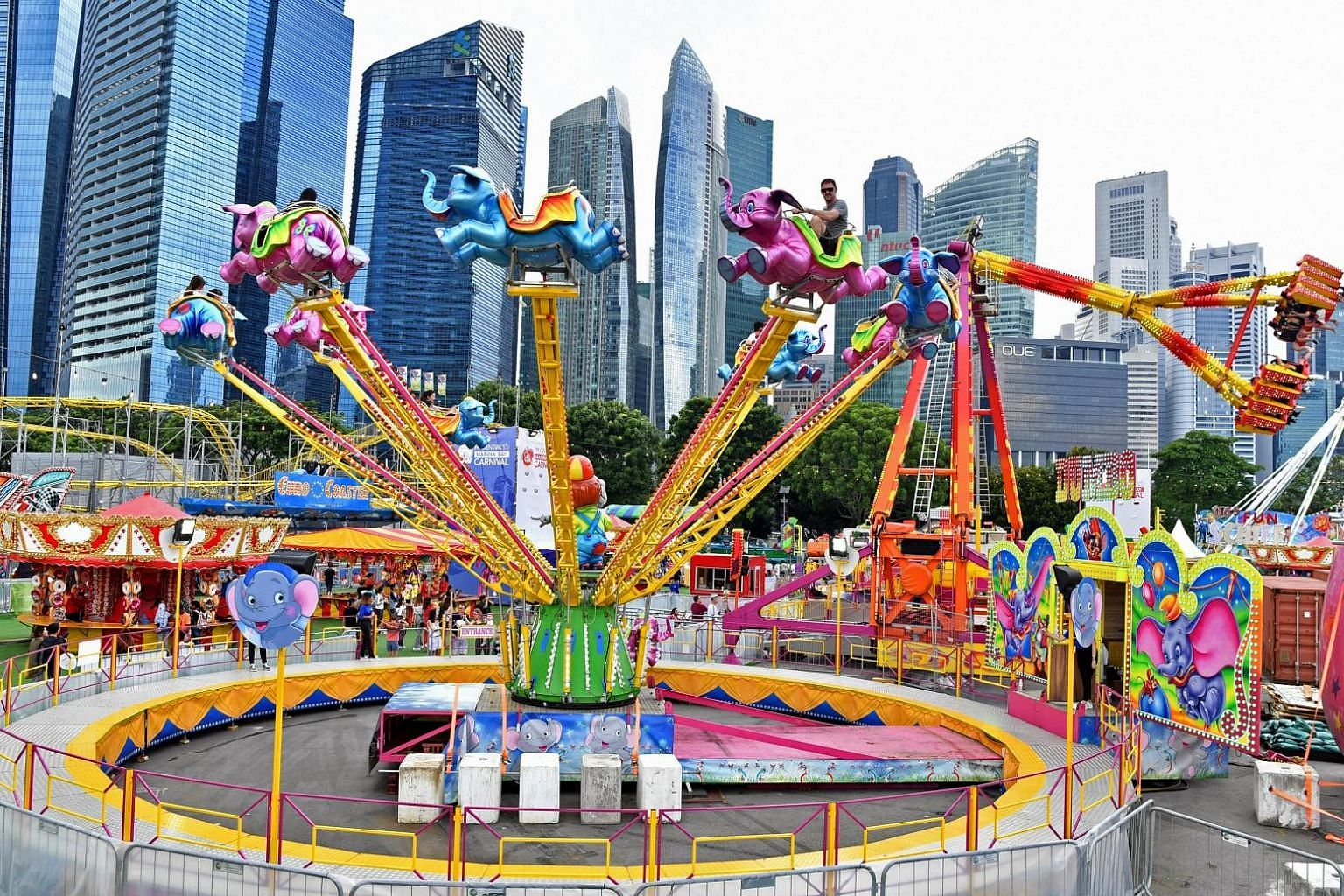 The second edition of the Prudential Marina Bay Carnival kicked off on Saturday and runs until March 24. Last year's event drew 1.4 million visitors and witnessed more than 30 marriage proposals.