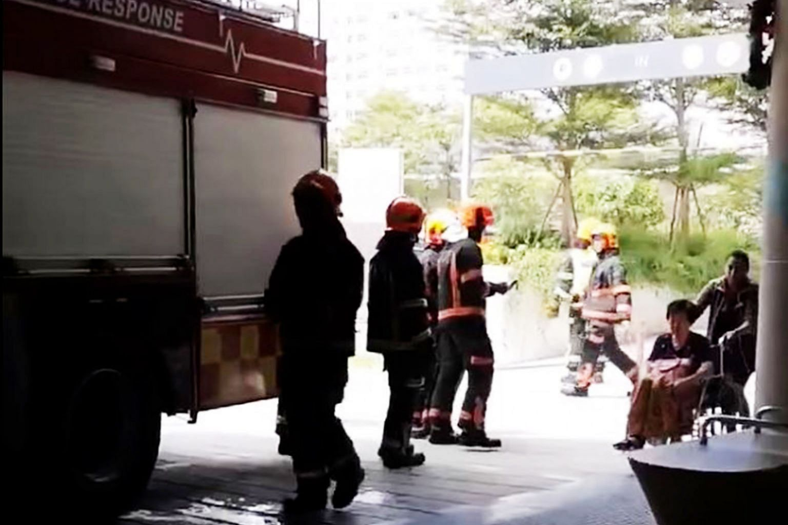 No one was injured and the cause of the fire is still being investigated by the Singapore Civil Defence Force.