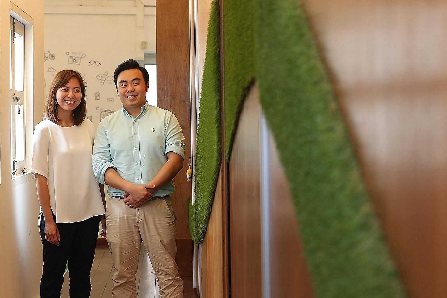 Have Halal, Will Travel co-founders Tengku Suzana Tengku Abdul Kadir, 28, and her husband, Mr Mikhail Goh, 29. They set up the platform in 2015 with a friend, with the aim of helping Muslims find halal food and prayer places in travel destinations ar