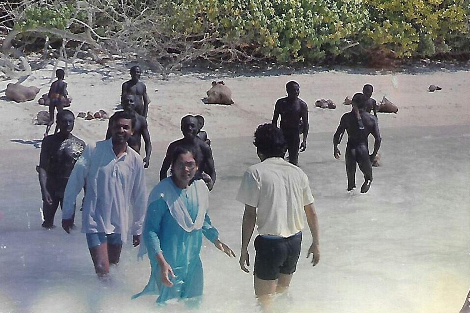 Dr Madhumala Chattopadhyay and her team broke the ice with the Sentinelese by offering them lots of coconuts.