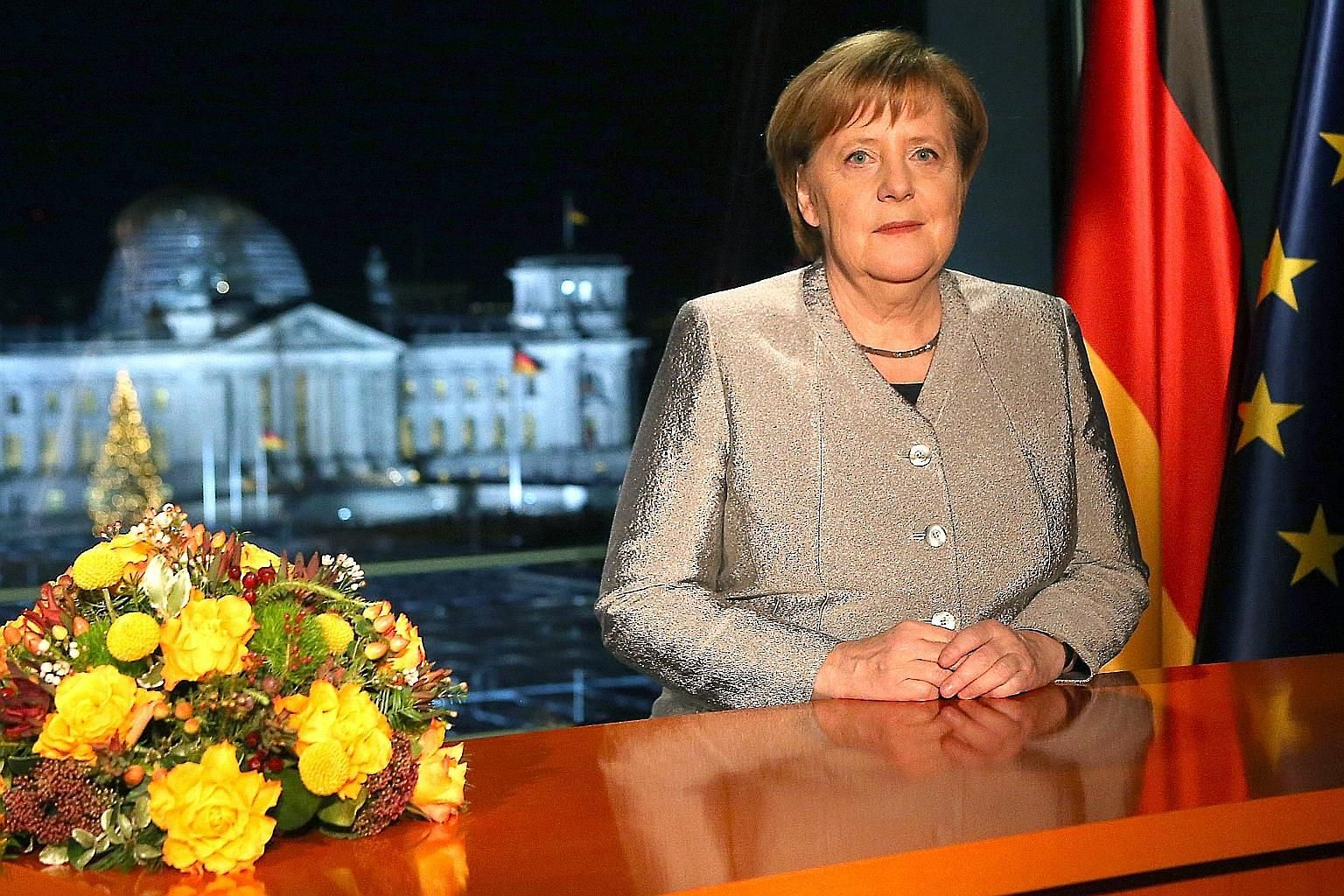 German Chancellor Angela Merkel, in her New Year address to the nation, said Germany must assume greater responsibilities at a time when multilateralism is coming under intense pressure.