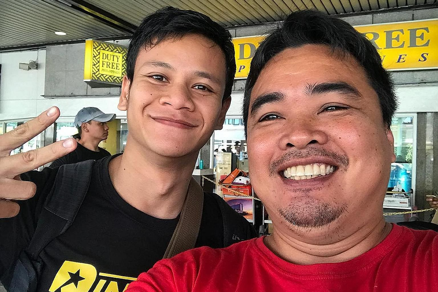 Top local pro boxer Muhamad Ridhwan with Joven Jimenez, head trainer at the Survival Camp in Cavite, Philippines, during his earlier training stint.