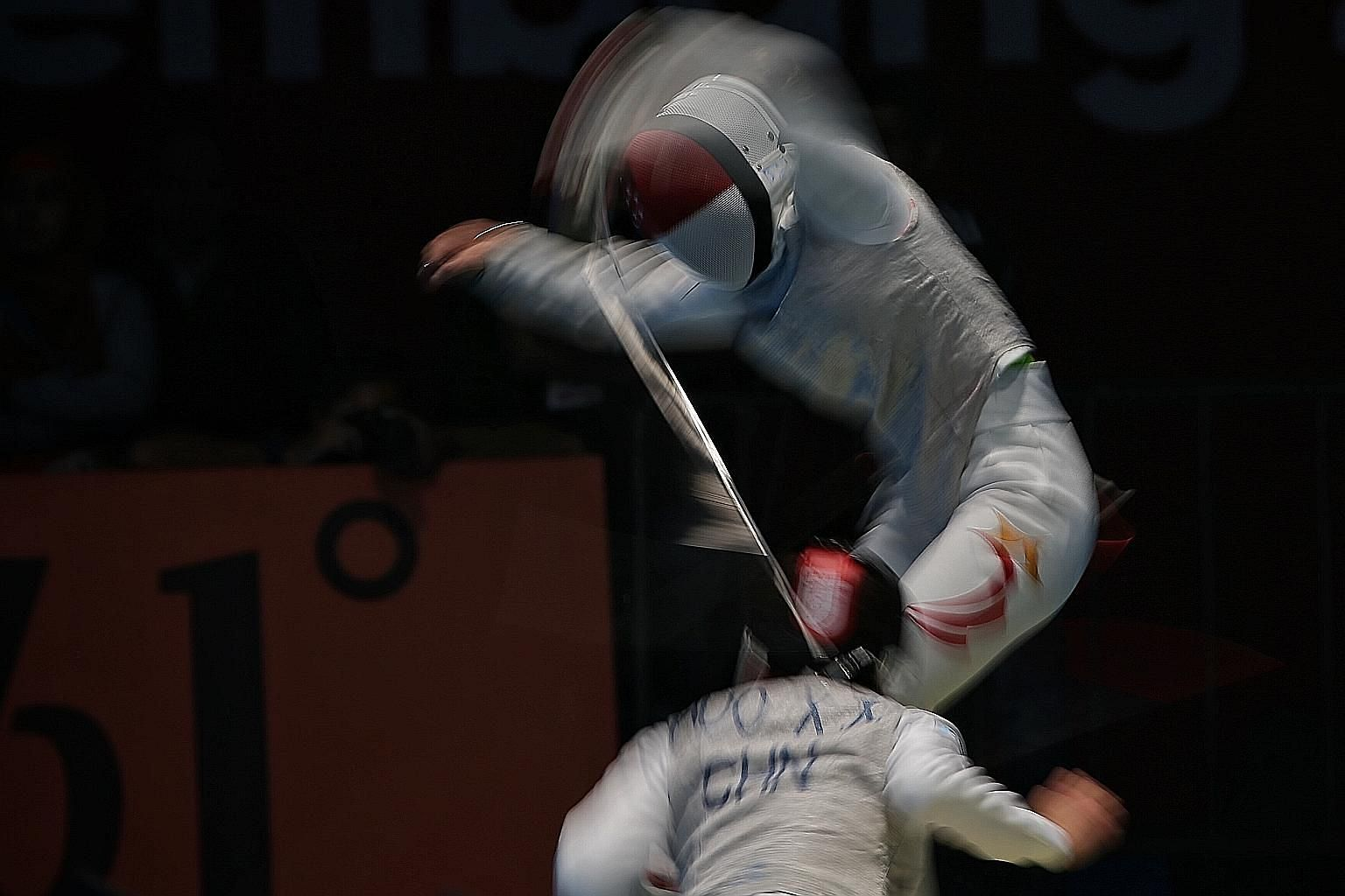 Amita Berthier in action against Huo Xingxin of China in the Asian Games last August. Her latest feat in Italy comes after winning gold in Guatemala in November and a silver in Cuba last month.