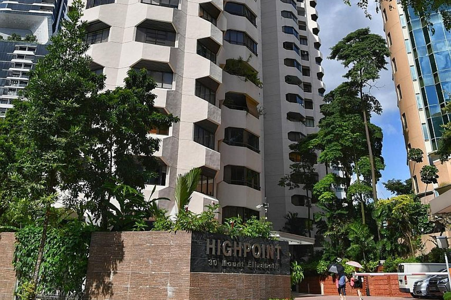 The HighPoint condo block, housing 57 apartments and two penthouses, is in Mount Elizabeth Road.
