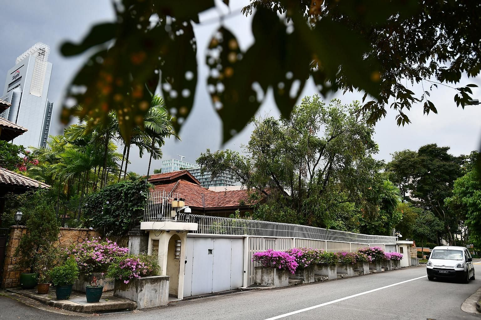 Mr Lee Kuan Yew's home at 38 Oxley Road. A clause on the demolition of the house, drafted for previous versions of the will but subsequently deleted, came to be reinstated in the last will.