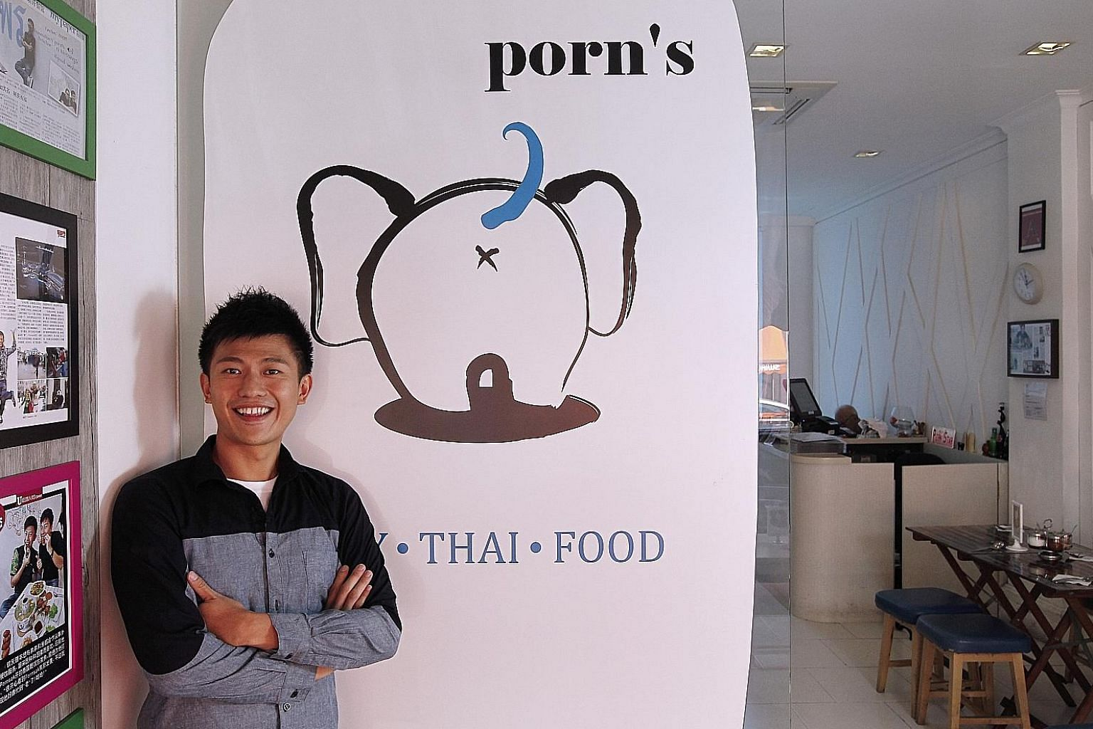 TV host Pornsak Prajakwit and his business partner, who opened the first outlet of Porn's Sexy Thai Food in 2010, agreed to give up their majority stake to Jus Delish Group in November 2016, selling their shares for $2 as Jus Delish had agreed to inj