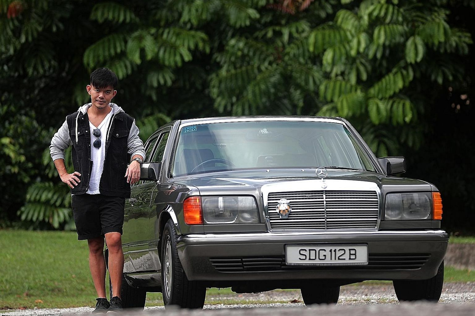 Mr Bernard Teo chanced upon the Mercedes-Benz 300 SEL at a used-car dealership and paid about $25,000 for it.