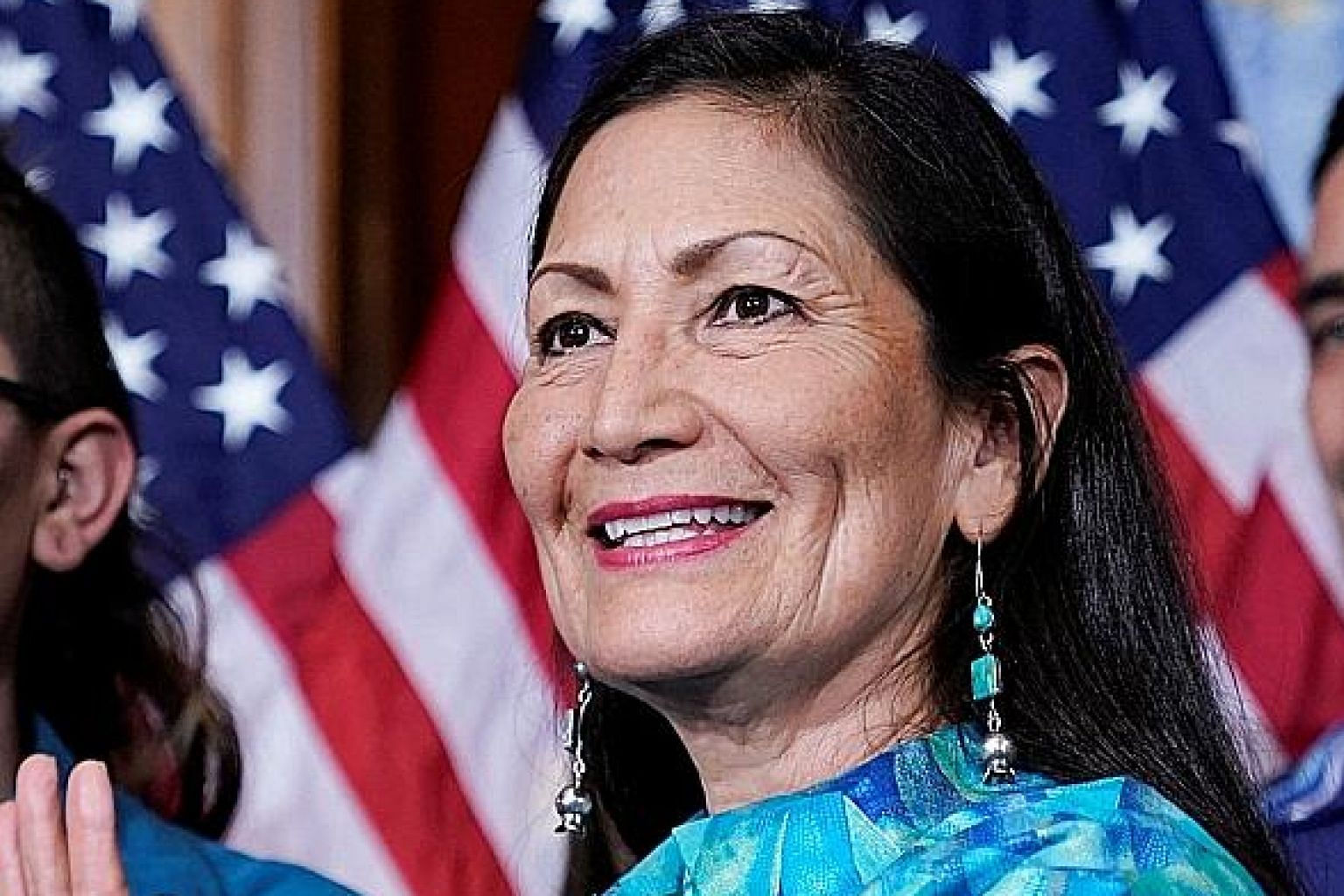 Ms Deb Haaland, representing the state of New Mexico, became one of the first two Native American women to be sworn into Congress last month.