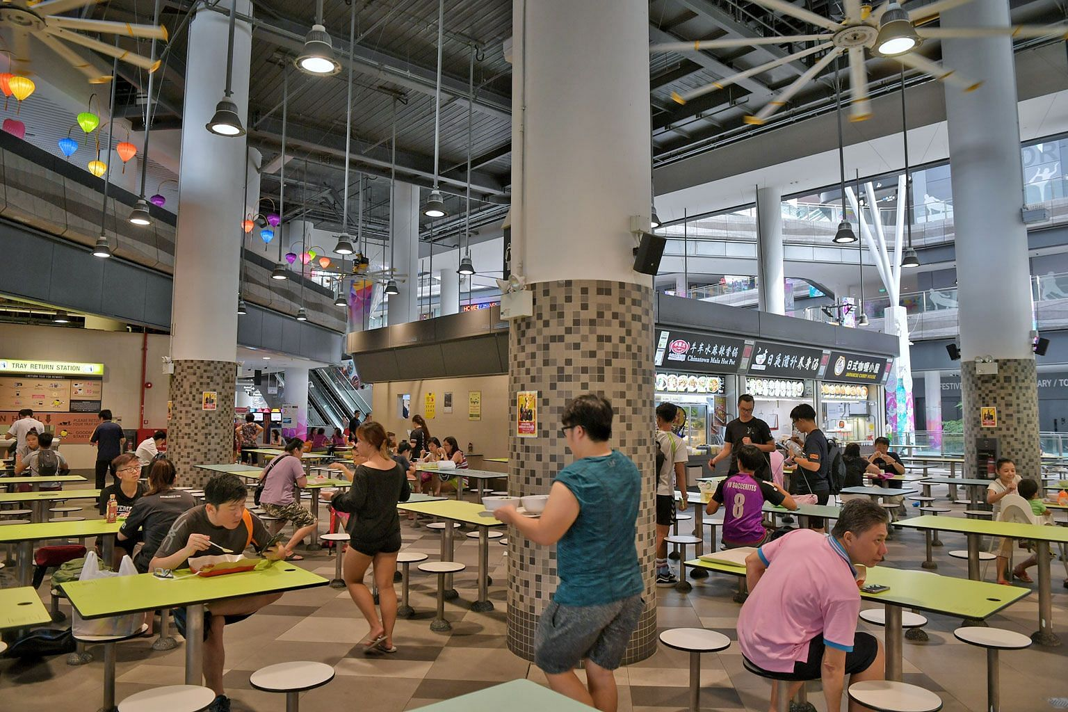 Over a third of the hawkers at the Hawker Centre @ Our Tampines Hub have opted to take two days off each week. Previously, they could take a day off only if they stayed open for 24 hours, six days a week.