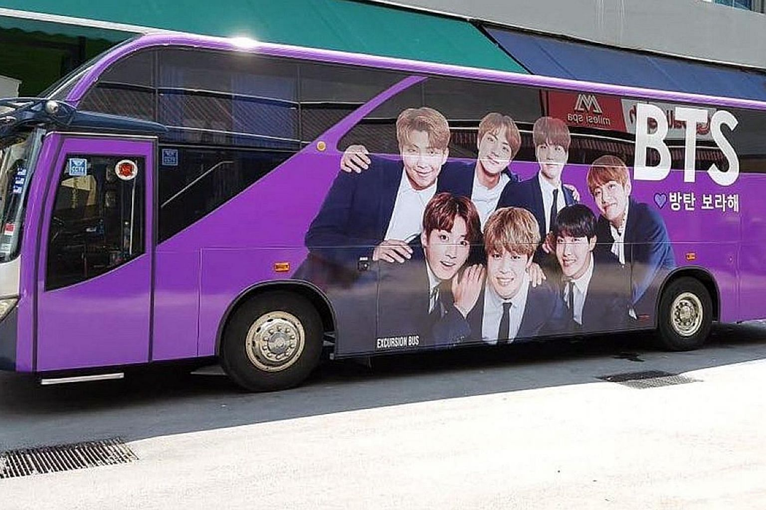 Some BTS fans have raised a four-figure sum to dress up a tour bus with pictures of the band members on both sides. The bus will pass by popular local venues on the day of the concert. The collection of BTS-related merchandise belonging to sisters Sa
