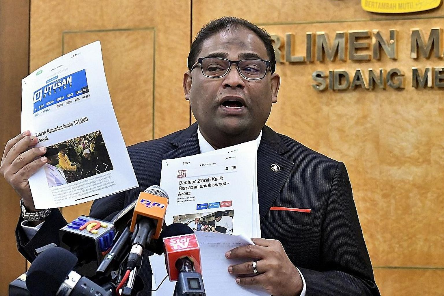 Baling MP Abdul Azeez Abdul Rahim is accused of receiving RM5.2 million for helping Menuju Asas to obtain government contracts.