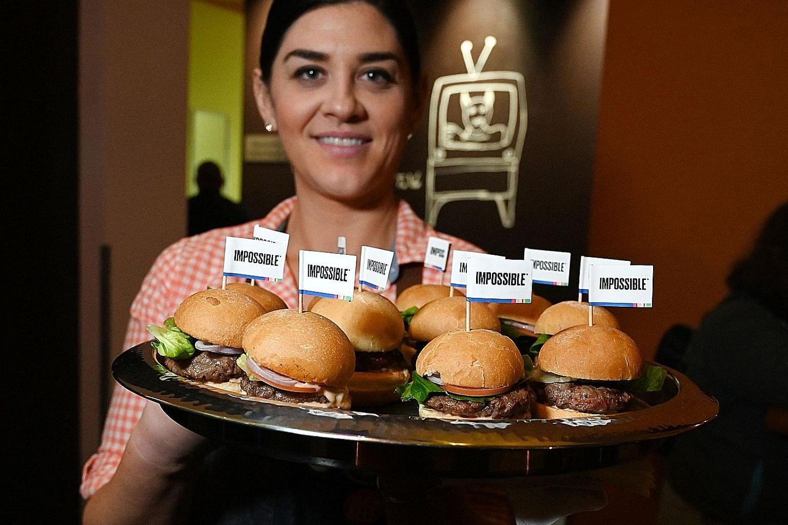 The Impossible Burger 2.0, the new version of Impossible Foods' plant-based vegan burger that tastes like real beef.