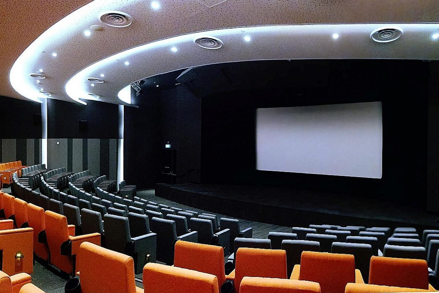 """Salt Media @ Capital Tower in Robinson Road is a cashless cinema that seats 228. It screens only films with """"a valuable message, about family, courage, honour and human rights"""", says Salt Media & Entertainment chief Sherman Ng."""