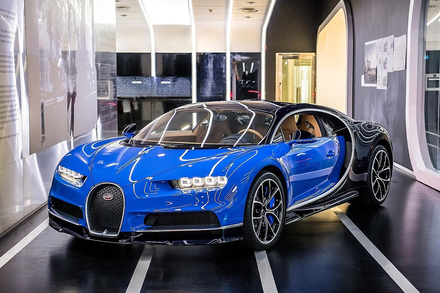 """To tap on the growing """"crazy rich Asian"""" market, Wearnes Automotive will add Koenigsegg (left) and Pininfarina (above) to its hypercar stable later this year. The powerful Bugatti Chiron (above and left) costs €2.4 million to €2.5 million."""