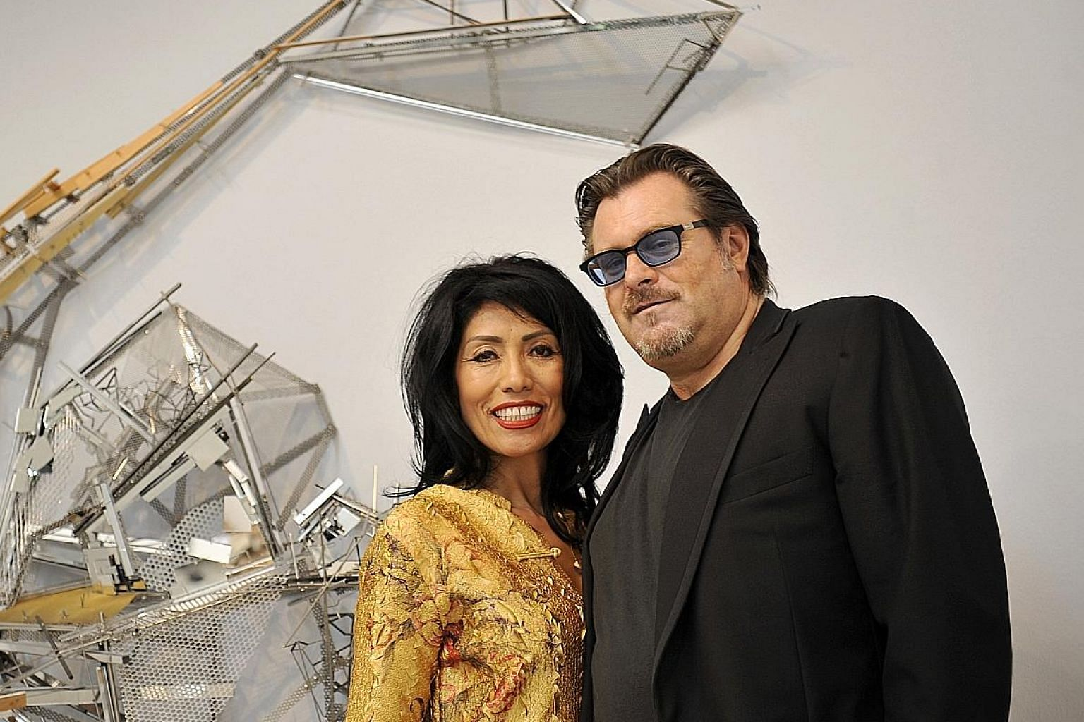 Mr Lorenzo Rudolf is married to Ms Maria Elena (both above), who is vice-president of Art Stage Singapore.