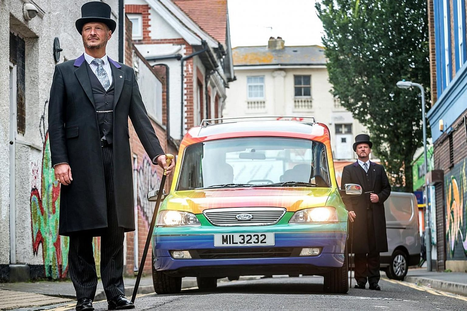 Co-op Funeralcare's rainbow hearse is requested, on average, twice a month by families across Britain.