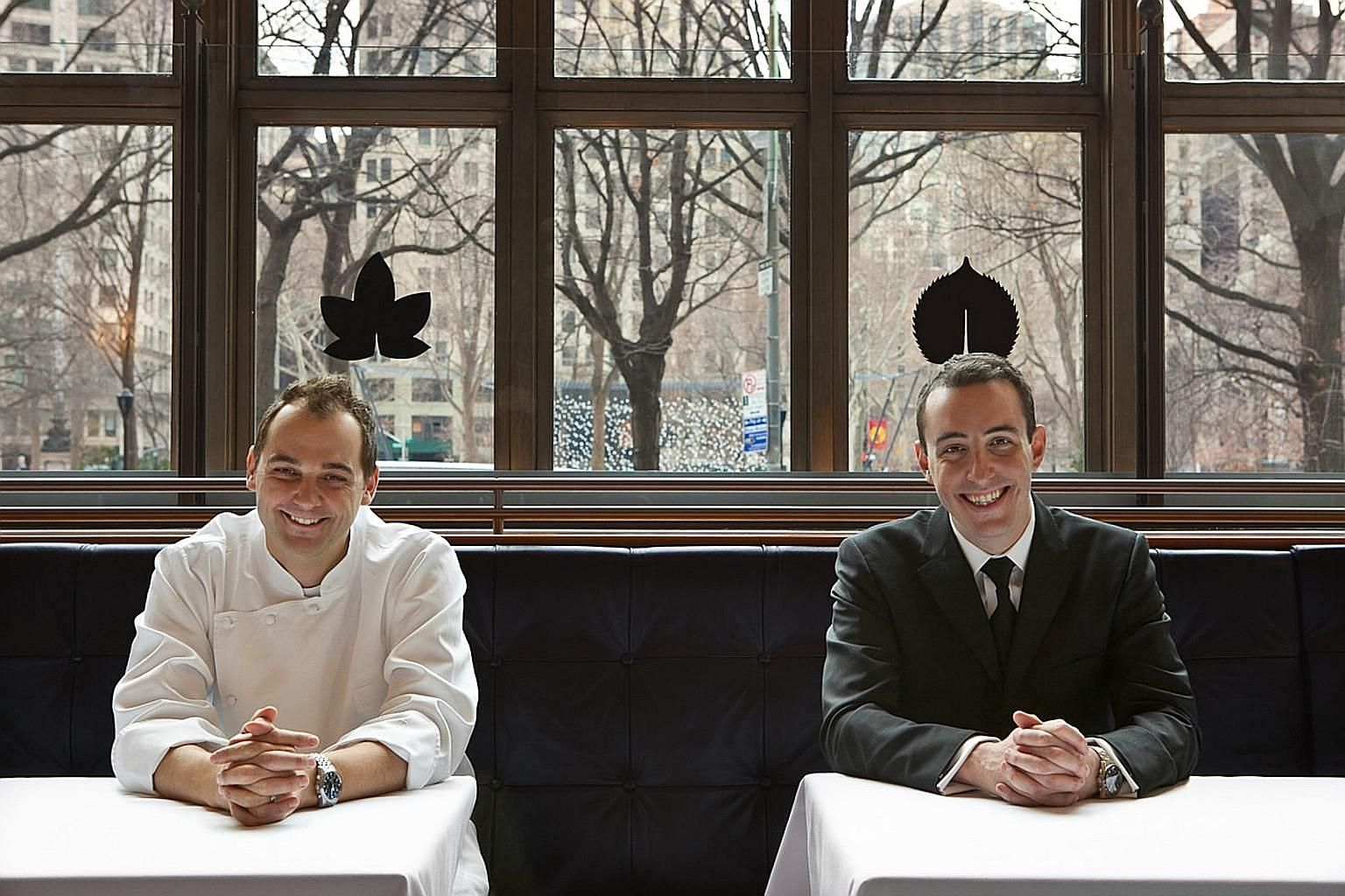 Chef Daniel Humm (far left) and business partner Will Guidara, who run Eleven Madison Park, the New York eatery that was namedWorld's Best Restaurant in 2017, will open Davies And Brook at the Claridge'shotel in London.
