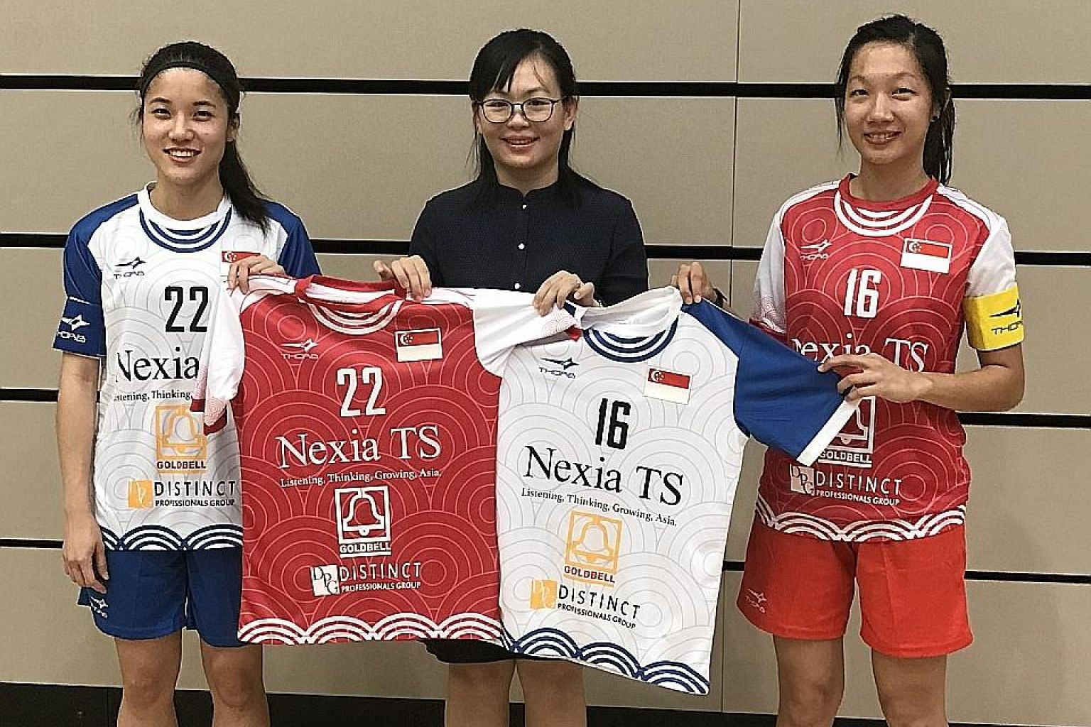 The Singapore women's floorball team are headed to Bangkok, where they will attempt to book a spot for the Dec 7-15 Women's World Floorball Championship in Neuchatel, Switzerland. On Tuesday, captain Amanda Yeap (No. 22) and vice-captain Jowie Tan (N
