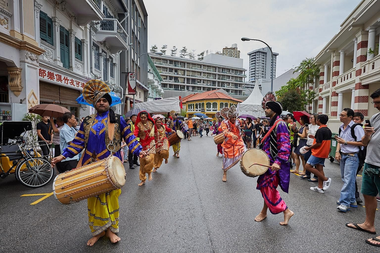 A Bukit Pasoh street party held in conjunction with the Singapore Heritage Festival. The festival is among major free events meant to allow heartlanders who do not go to performance halls to also enjoy arts and cultural events, says Minister for Cult