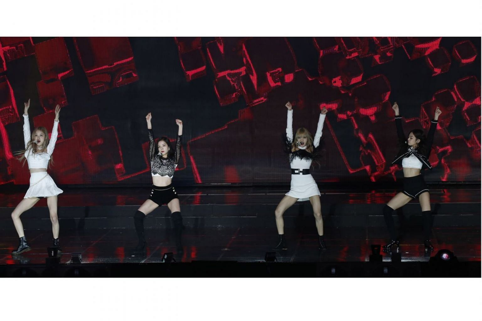 Live Nation Entertainment and One Production are bringing K-pop girl group Blackpink, seen here at the Gaon Chart Music Awards in Seoul last week, to Singapore for their debut show here next month.