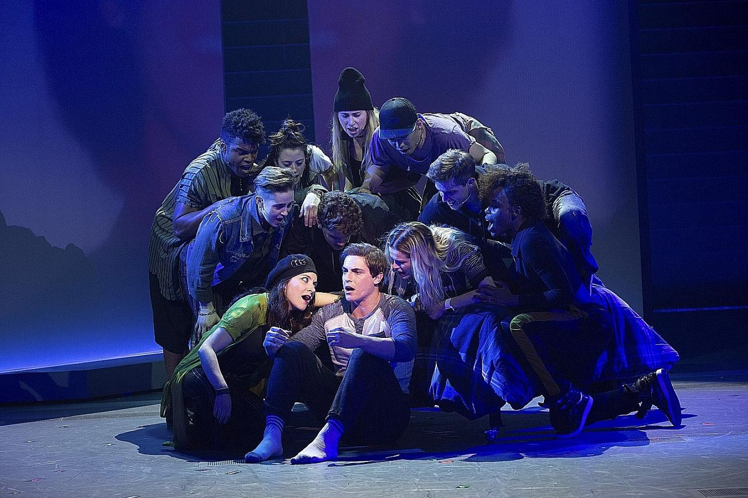 The Jagged Little Pill musical (left) is based on a Grammy-winning album by Alanis Morissette (above).