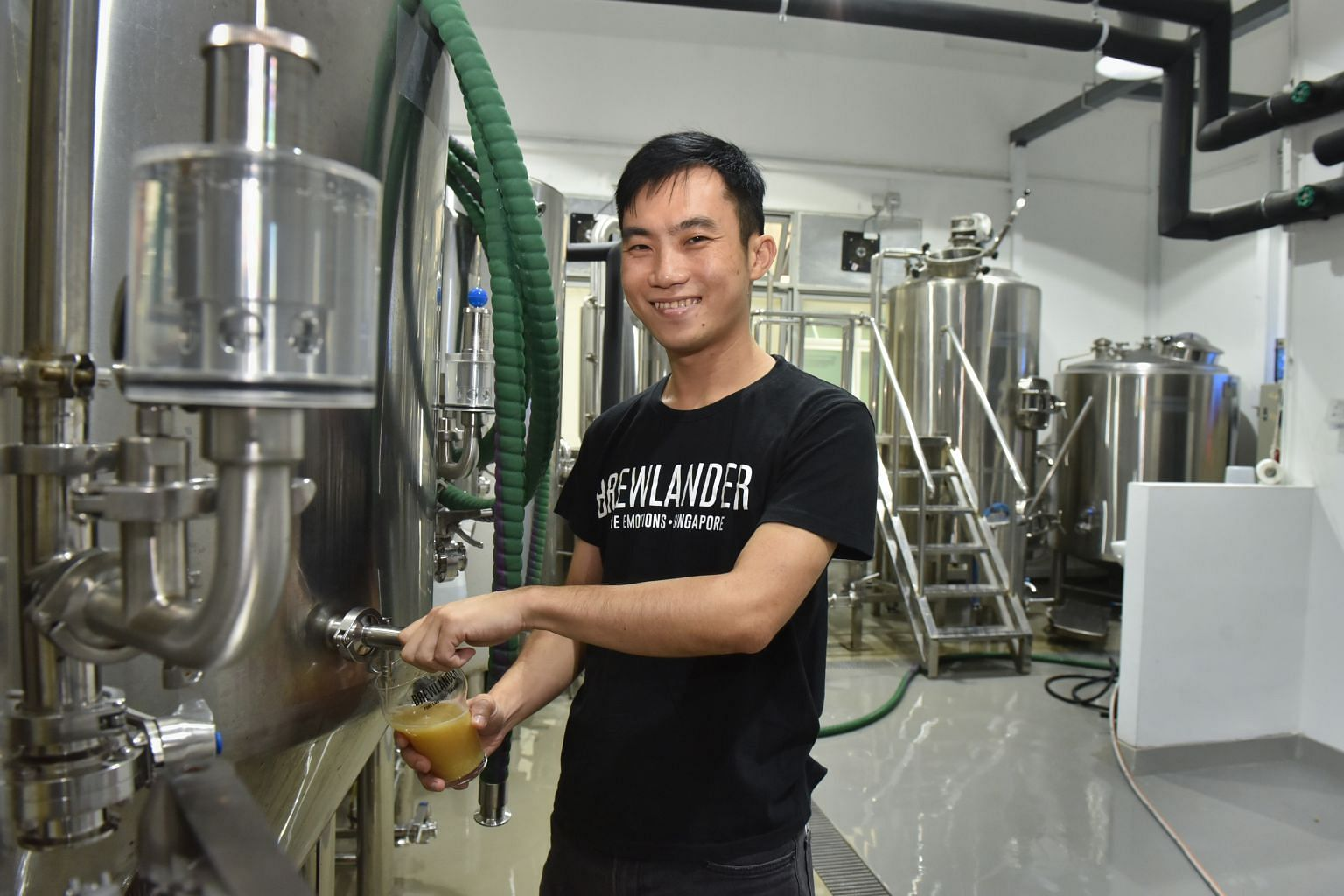 Award-winning Singaporean master brewer John Wei produces his Brewlander brand of beers in Cambodia and Singapore.