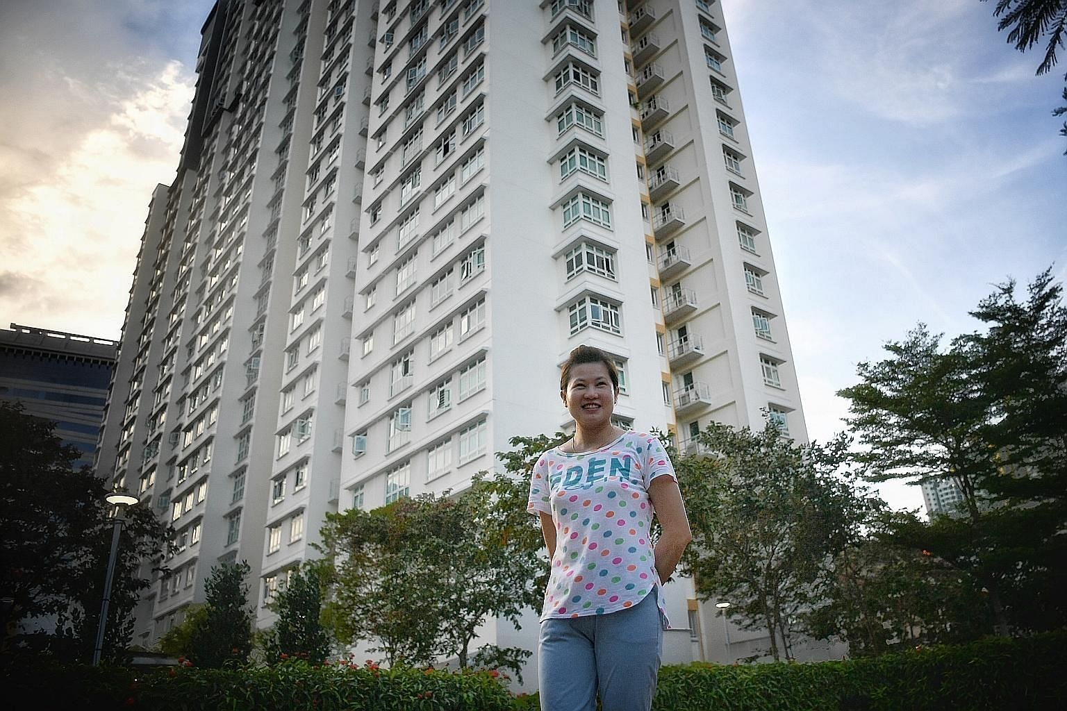 Property agent Casslyn Lim sold a four-room flat and a five-room unit at a cluster of HDB blocks in Boon Tiong Road (left), in the Tiong Bahru area, for over a million dollars each last year. While noting that million-dollar flats are not the norm, o