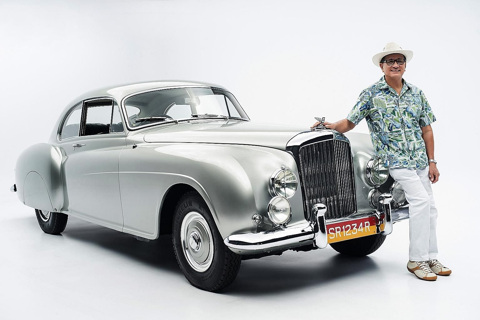 Mr Larry Lim fell in love with the Bentley R-Type Continental in 1953 when he was 12 and browsing car magazines at bookshops in Bras Basah Road.