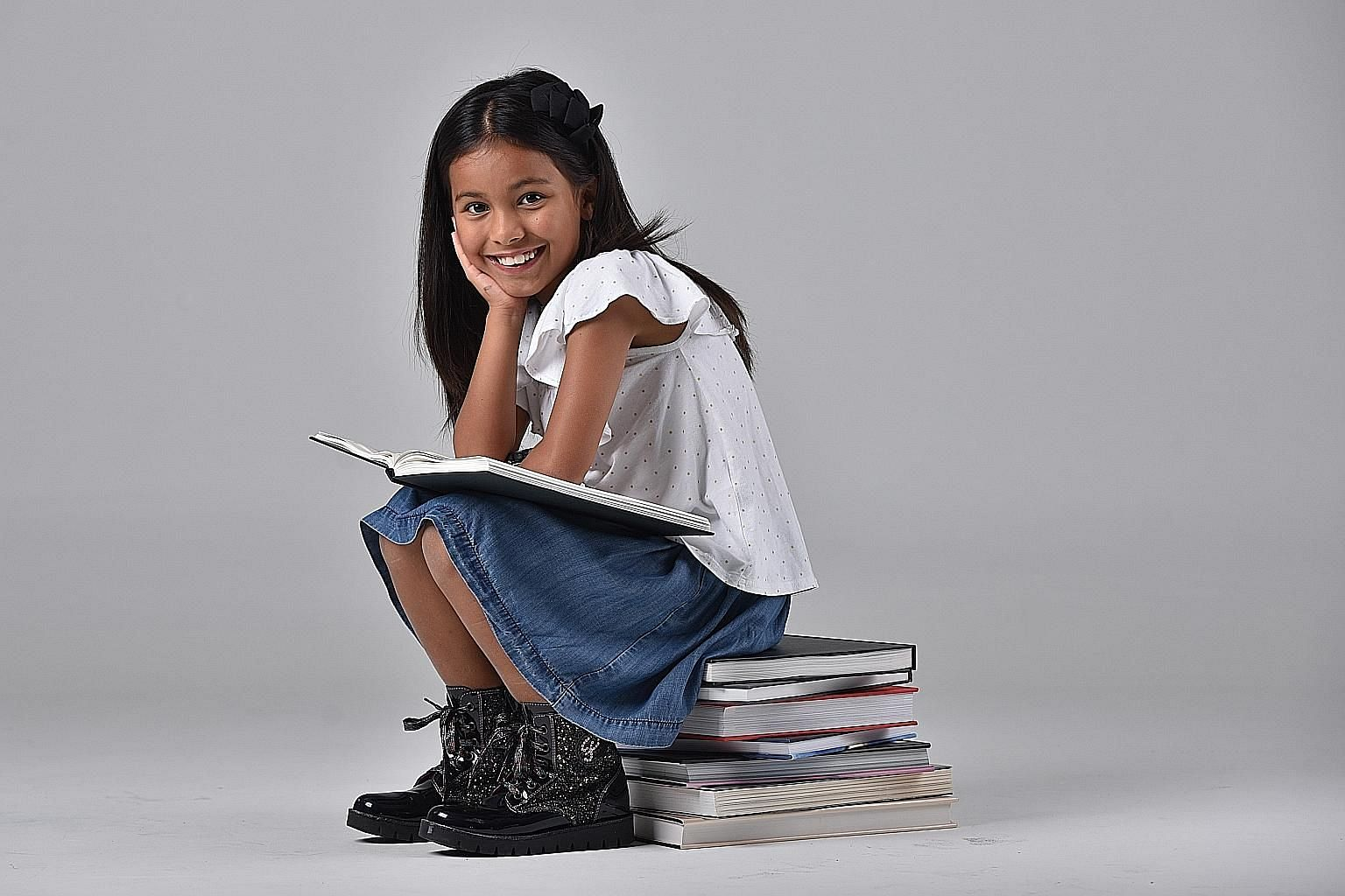 Nine-year-old Sofia Poston is one of four girls who will play the lead role in Matilda The Musical.