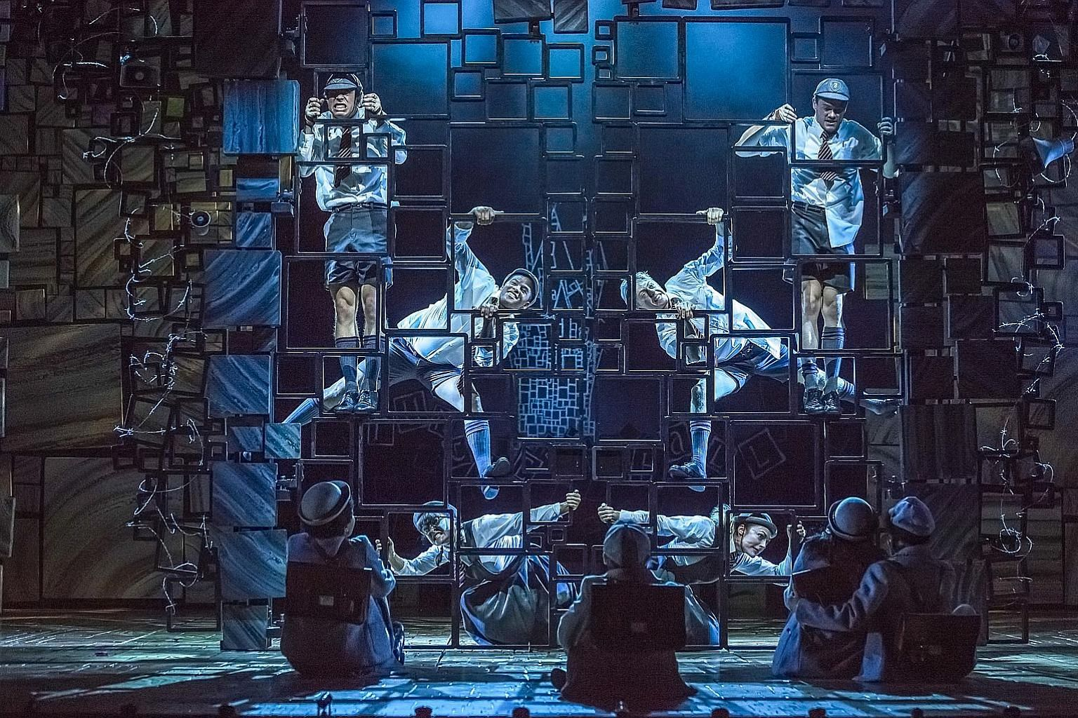The songs in Matilda The Musical (above) are by Australian composer-comedian Tim Minchin (left).
