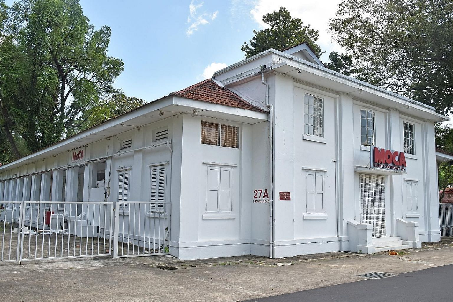 The Museum of Contemporary Arts in Loewen Road, also known as Moca@ Loewen, shut its doors on Monday as its lease had expired and it was not successful in the latest tender, said co-owner Linda Ma.