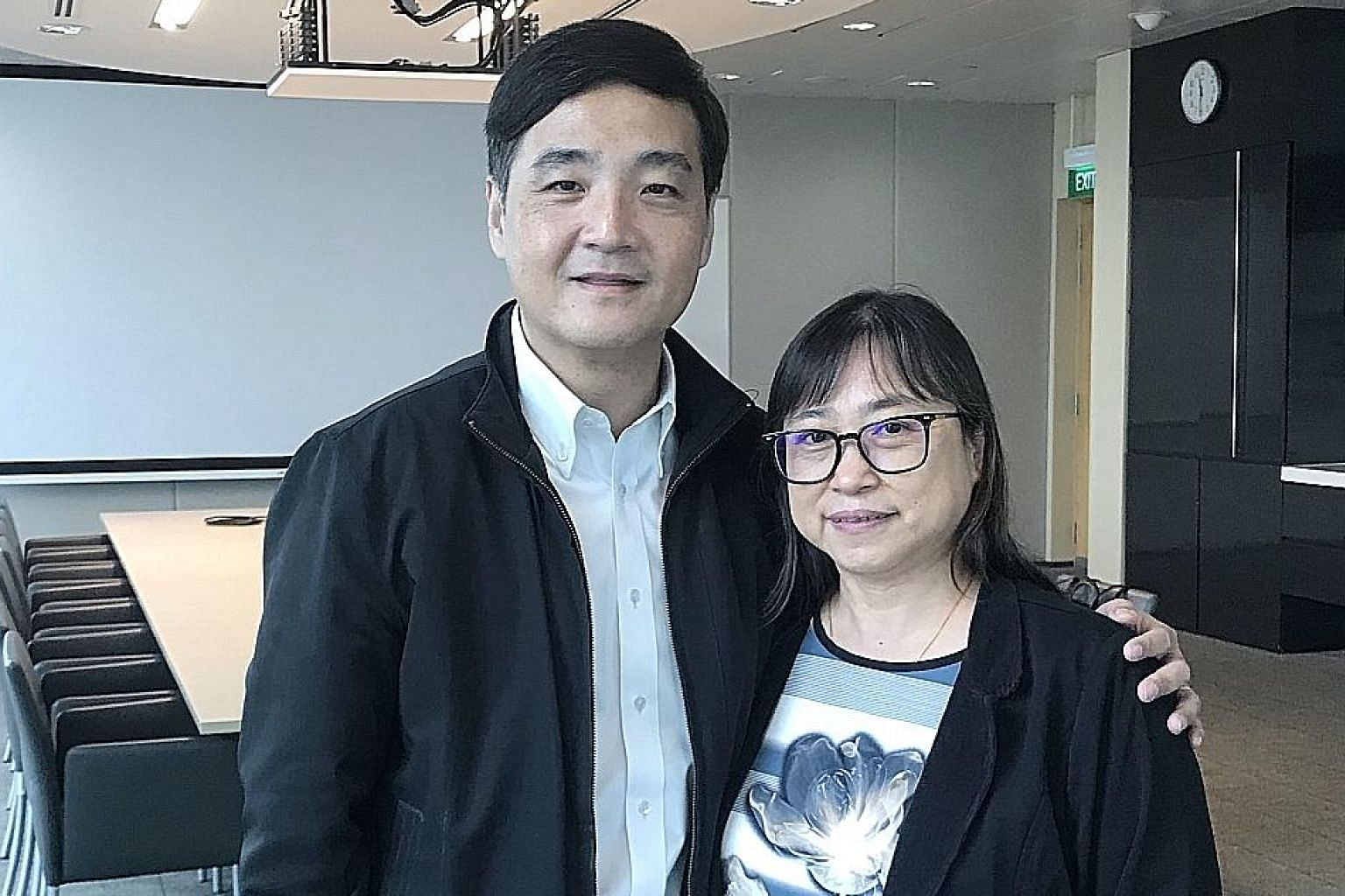 NTUC deputy secretary-general Heng Chee How with Ms Koh Leh Choo, who is now a part-time homecare nurse with NTUC Health. Ms Koh had to resign from her full-time job to care for her father in 2017.