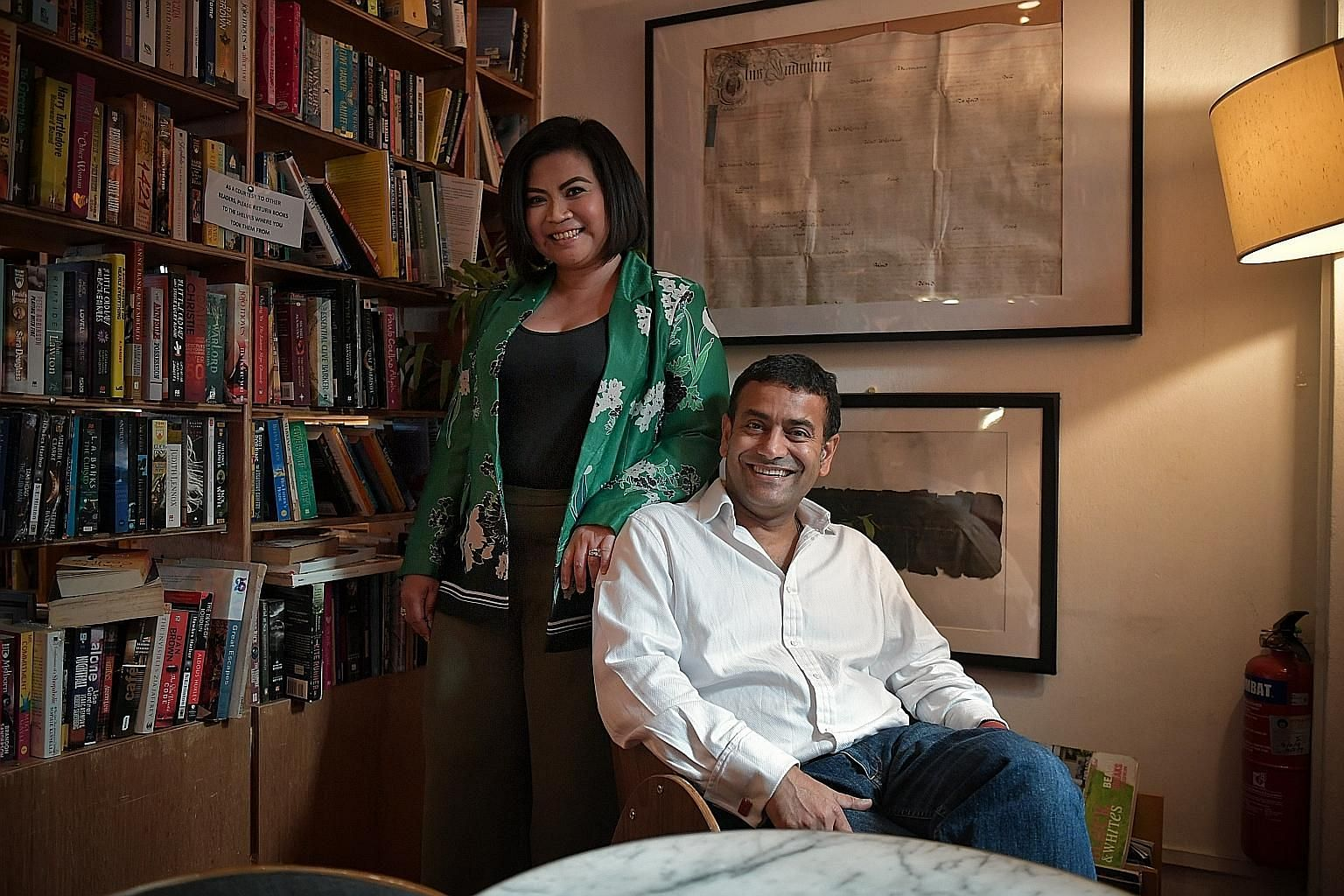 Penguin Random House India and South-east Asia chief executive Gaurav Shrinagesh and the Singapore office's executive editor Nora Nazerene Abu Bakar (both left).