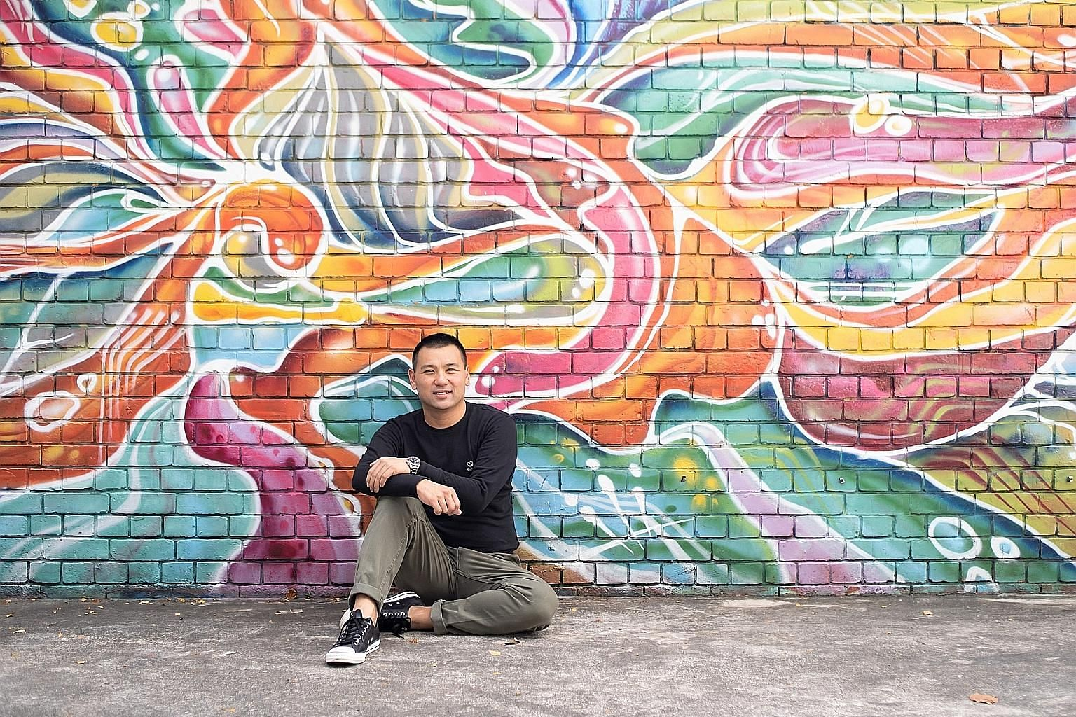 Mr Bryan Tan owns about two dozen pieces of art, which he sees as an extension of his lifelong love of art.
